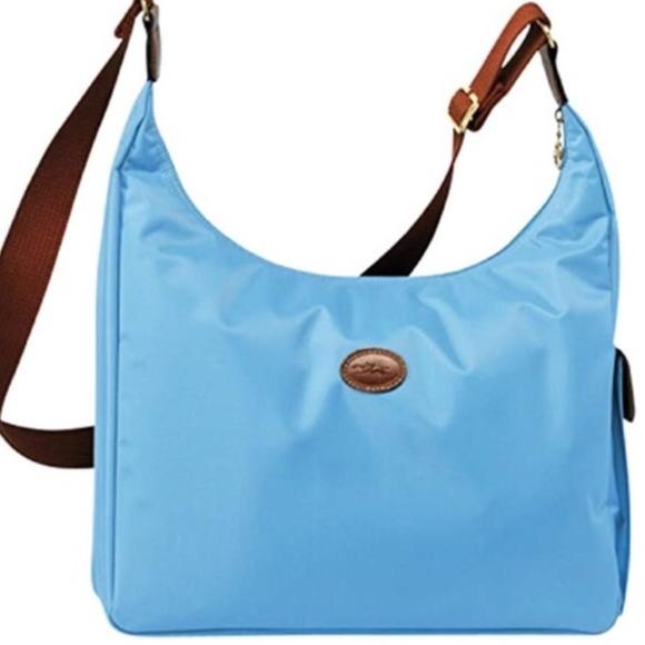 Longchamp Le Pliage Hobo Messenger Bag NWOT